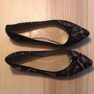 J Crew leopard ballet flats